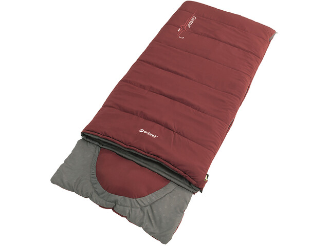 Outwell Contour Sleeping Bag Youth, red